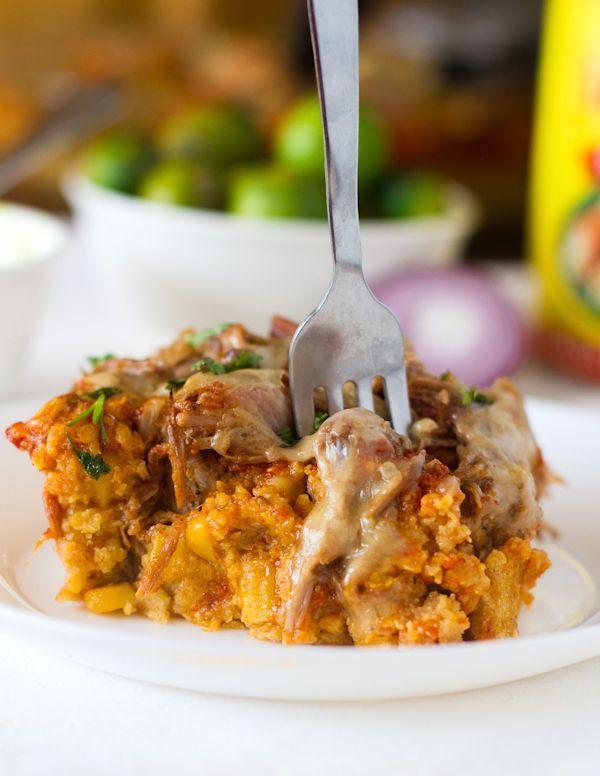Carnitas Tamale Pie via Lindsay of Pinch of Yum!