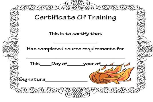 certificate basketball training template templates sports dribble practice