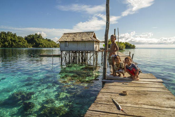 Togian Children Fishing