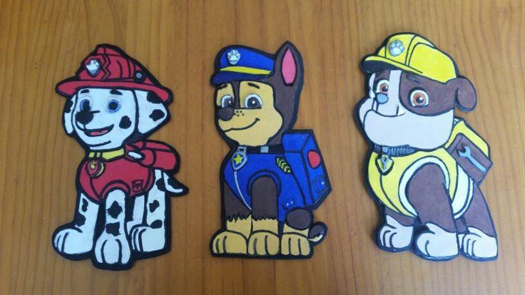 La patrulla canina goma eva mis creaciones pinterest - Manualidades patrulla canina ...