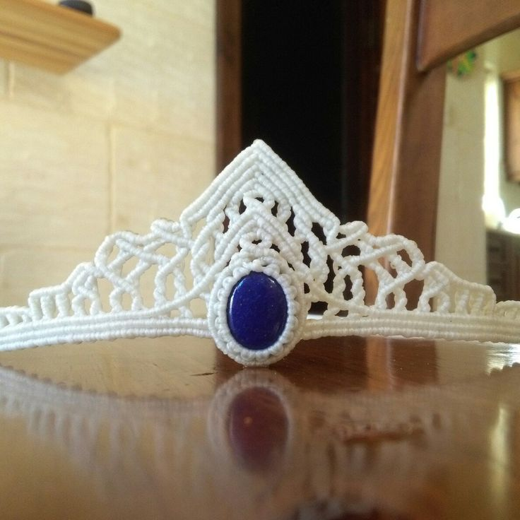 New hair accessories Macrame tiara now available