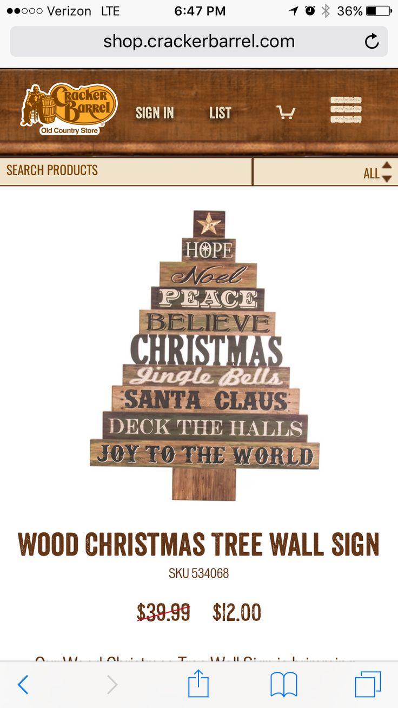 Idea by Nancy Godin on Cricut Wood christmas tree