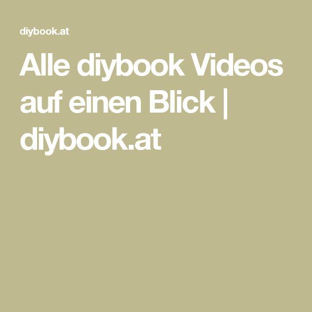 Alle diybook Videos auf einen Blick | diybook.at