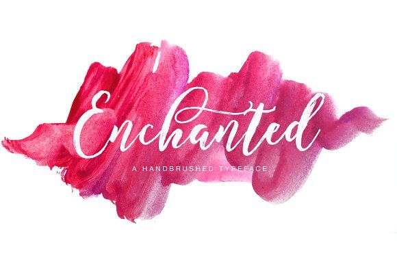 #fonts Enchanted Brush by Get Studio on @creativemarket