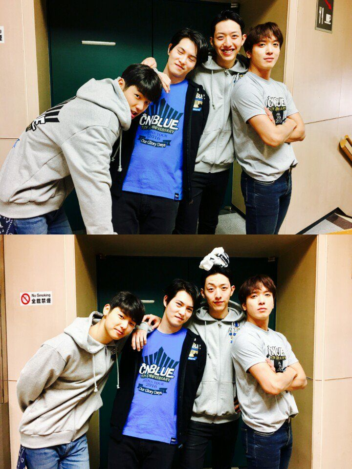 "CNBLUE posts cute group photo after ""CNBLUE 5th Anniversary Arena Tour"" - http://www.kpopvn.com/cnblue-posts-cute-group-photo-after-cnblue-5th-anniversary-arena-tour/"