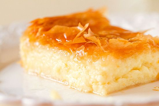 Greek Custard Pie (Galaktoboureko) some recipes I have seen for this include lemon along with the orange (same amounts) either way it sounds ahhmazing to me!
