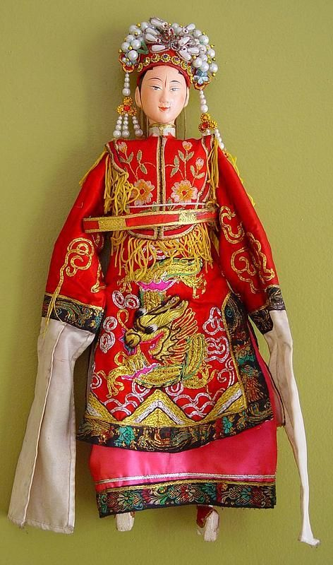 Chinese Opera Puppet in dragon dress