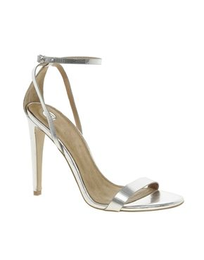 Image 1 ofRiver Island Barely There Heeled Sandals