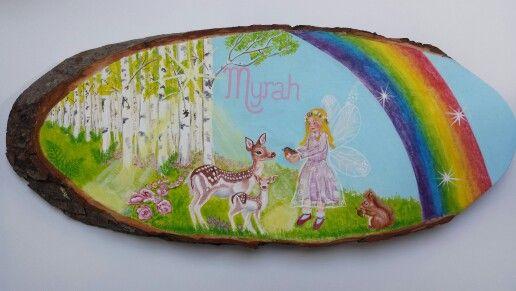 naamschilderij Myrah