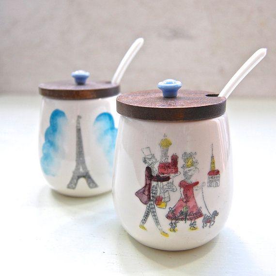 MidCentury Vintage 'Gay Paris' Fine Ceramic 3 by LeGrenierLondon