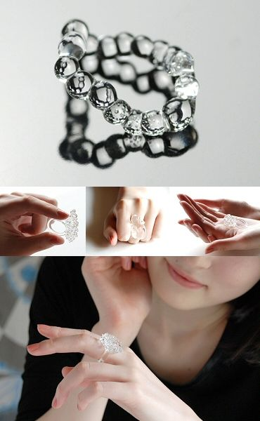 clear boro glass rings by Japanese designer Banri Miyashita, who designs as the label Lima 7192. (http://www.kok-design.jp/SHOP/g26947/t02/list.html)