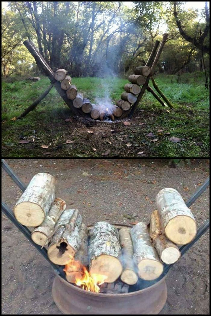 This self-feeding campfire setup can provide around 14 hours of steady fire. Perfect for letting you sleep cozily and undisturbed during a cold night in the woods! Now there are certain aspects that you need to consider to build a successful self-feeding campfire. You would need to learn about the right frame angle and air flow among others.
