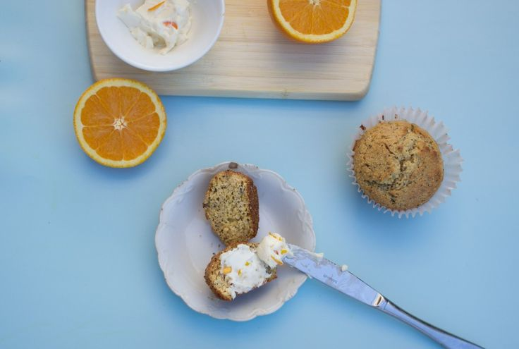 Orange, Poppy and Chia Seed Muffins