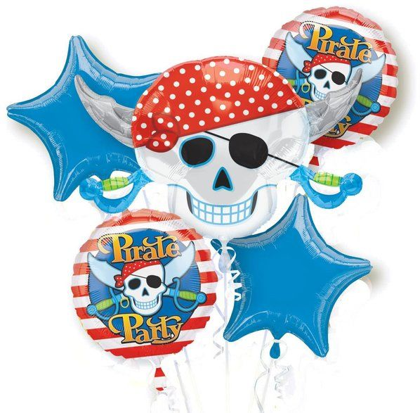 Check out Pirate Mylar Balloon Bouquet (each) - Cheap Party Supplies from Wholesale Party Supplies