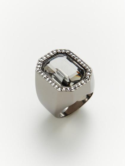 Meteor Grey Crystal Ring by Swarovski Jewelry