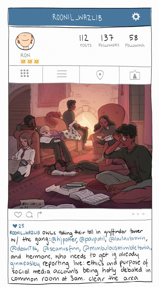 snapchat, insta, and quidditch=games that gryffindor JUST CAN'T LOSE. amazing illos & hilarz captions created exclusively for SparkNotes by the awesome @sasmilledge
