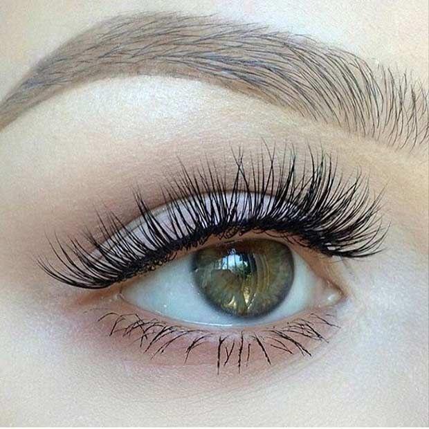 Just Wispy Eyelashes