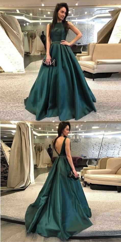 a8efb0ff78f Gorgeous Dark Green Backless Prom Dress