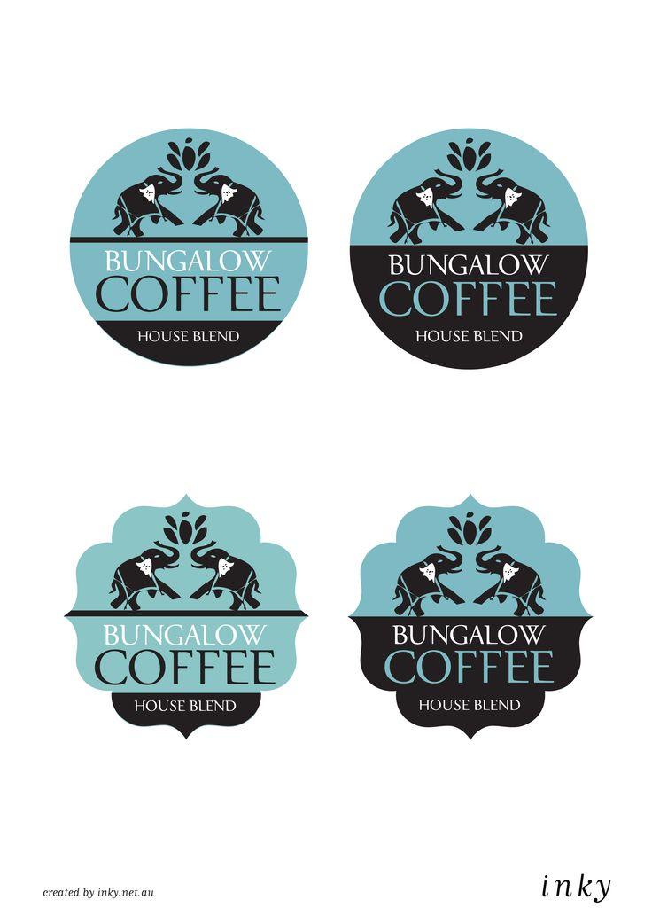 Bungalow Coffee - logo options designed by - www.inky.net.au