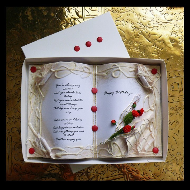 Delightful Books On Card Making Part - 12: Card In The Shape Of An Open Book.