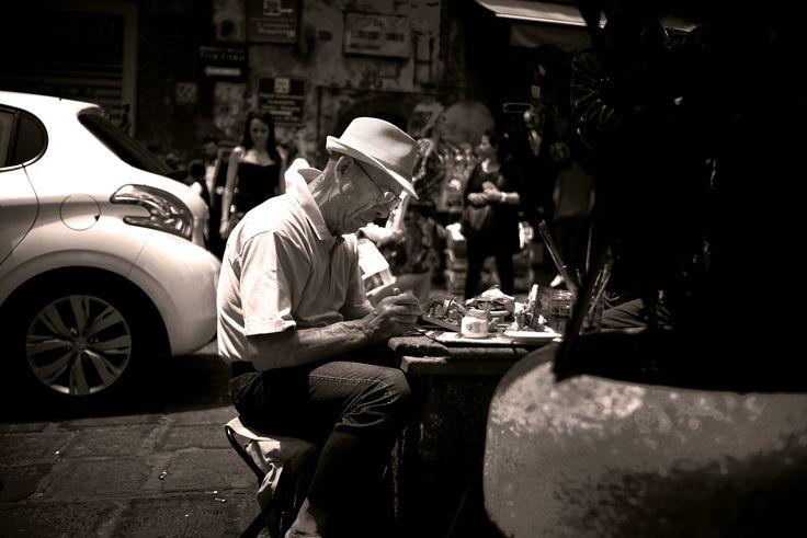 Street artist - Taken in Naples during weekend trip.