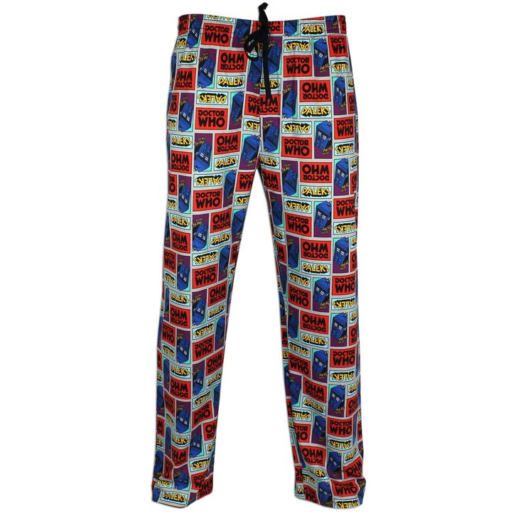 #DoctorWho Pajama Lounge Pants for Men!   Officially licensed