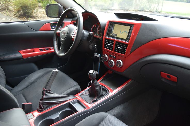 2008 Subaru WRX gets red interior accents to match the red exterior.