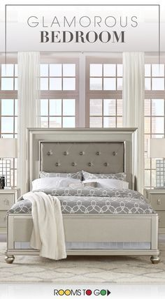 Elegant, luxurious, glamorous. The chic Paris collection combines lavish design with smart organizational features and indulgent comfort to create your dream bedroom. Visit Rooms To Go now to see this glamorous bedroom and many more!