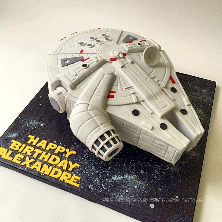 Star Wars millenium falcon cake! (Drip Cake Male)