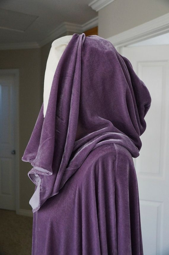 Custom Silk Velvet Cloak - inspired by Arwen LotR Requiem cloak - elf - medieval Ren fair