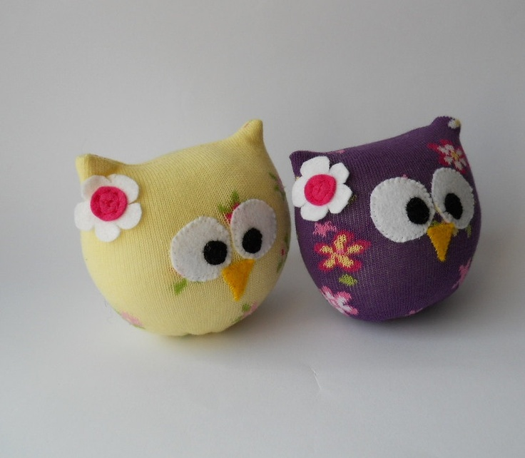 RESERVED LISTING for Sarah Salisbury pair of sock owls