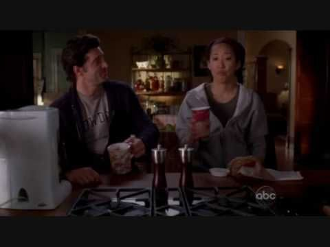 Funny scene from 5x08, Derek, Meredith and Christina in bed. Also the arrival of Sadie.
