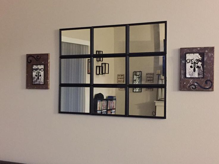 pottery barn dupe 9 mirrors from dt 2 foam poster boards from dt black duct tape