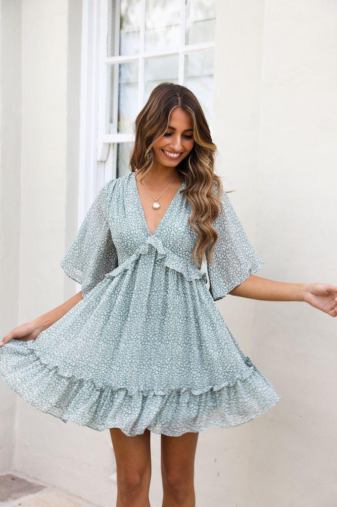 Hippolyta Dress Sage