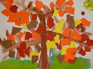 Kindergarten Fall Tree craft