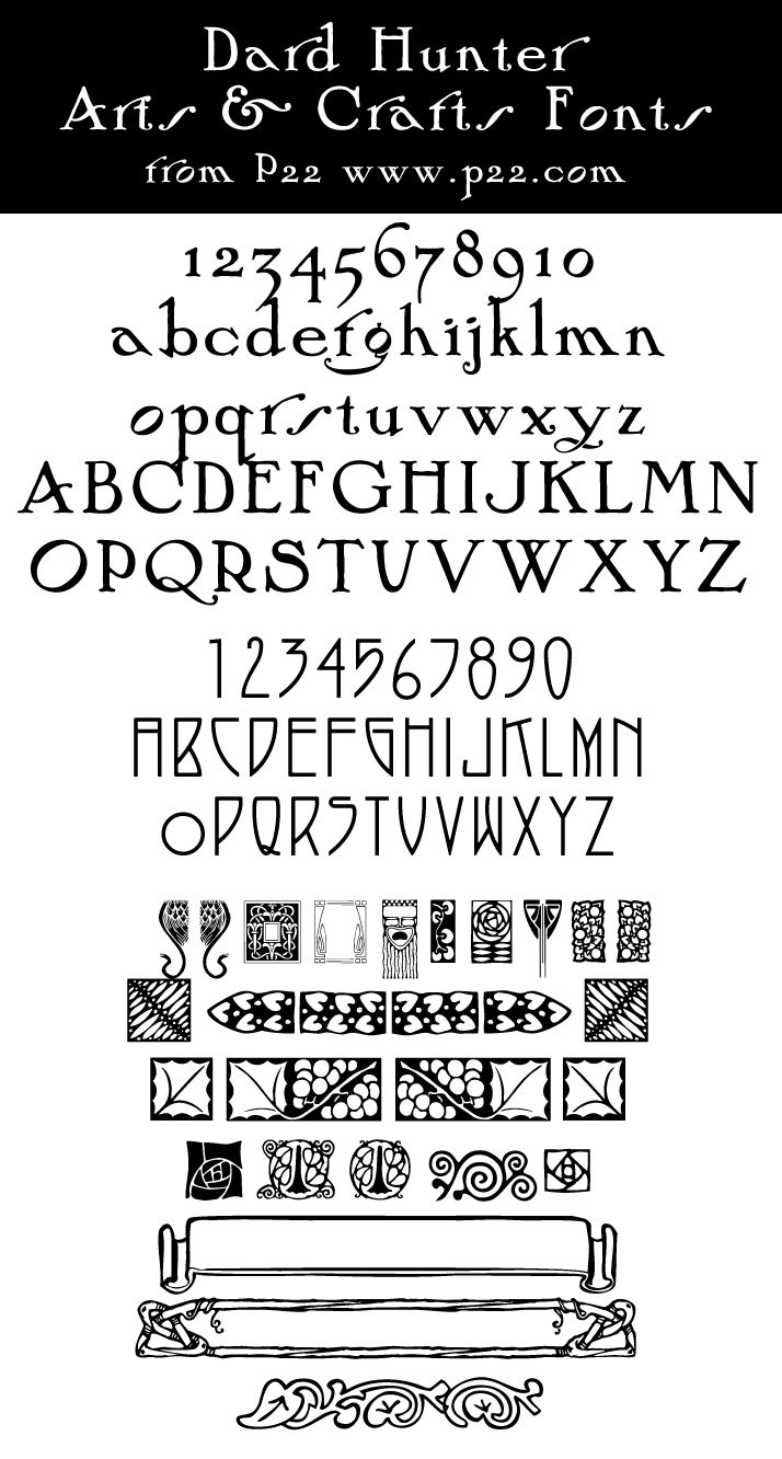 Arts And Crafts Fonts | ... com ---- 1 800 P22-5080 ----- FOR ARTS  CRAFTS BLIOGRAPHY SCROLL DOWN
