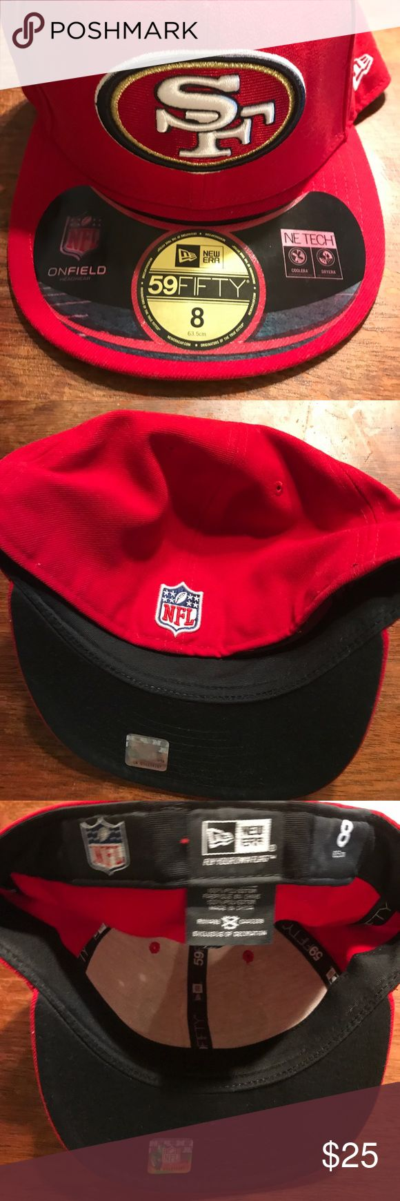 San. Francisco 49ers new era fitted size 8 men hat New baseball cap by New era red 49ers football team new New Era Accessories Hats