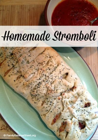 Homemade Stromboli - so easy to make and you might have the ingredients on hand.
