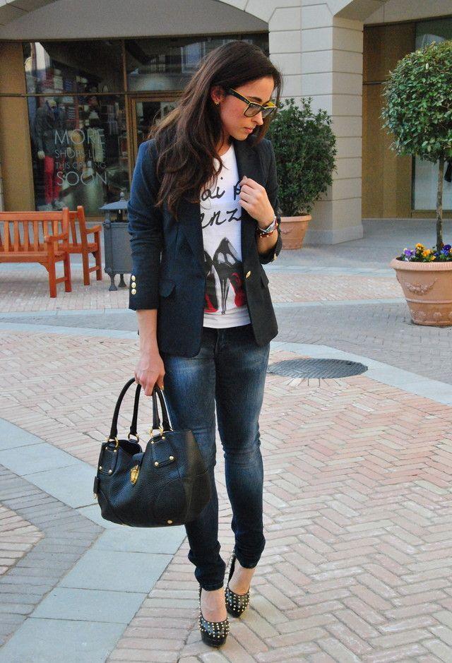 Zara  Blazers, SOS orza studio  Jeans and Prada  Bags