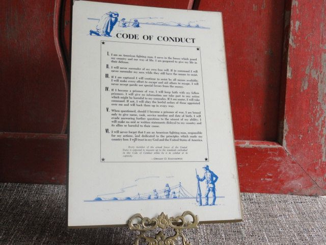 Military Code of Conduct Plaque by cherylanngoods on Etsy