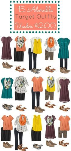 #Target Under $200 Moodboard. Great #fashion ideas that are super budget friendly.