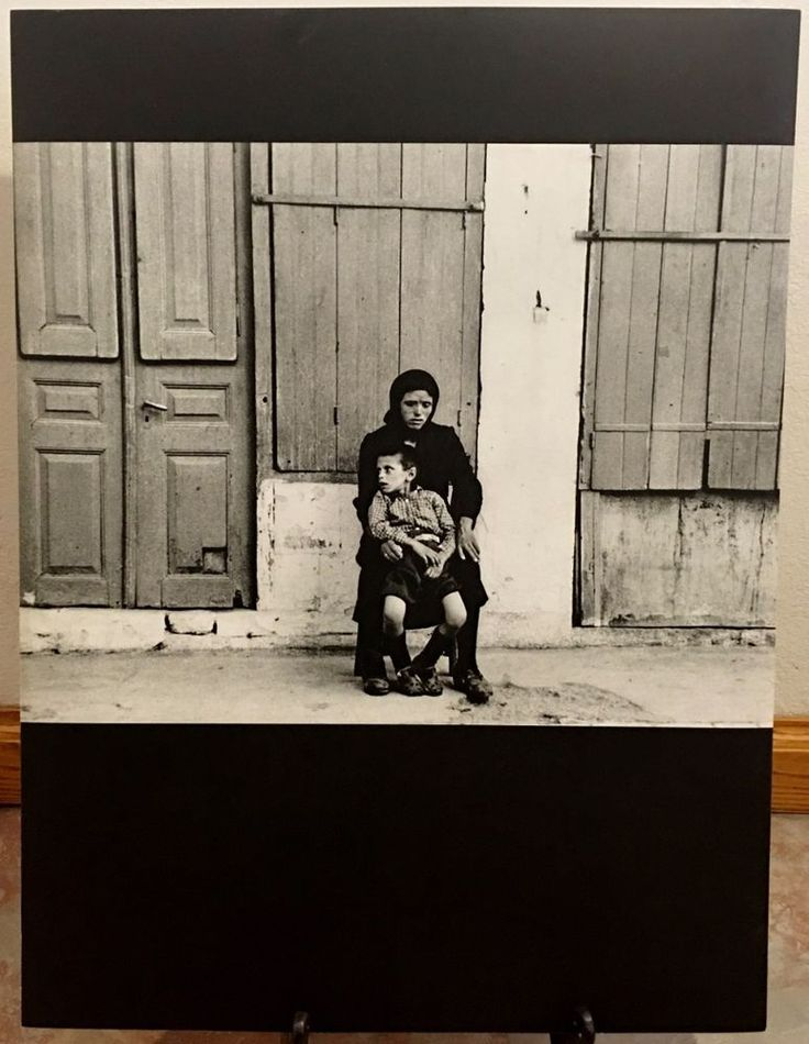 "GREEK MOTHER & CHILD * 18"" x 24"" Print * Photograph by Sheldon Brody 1964"