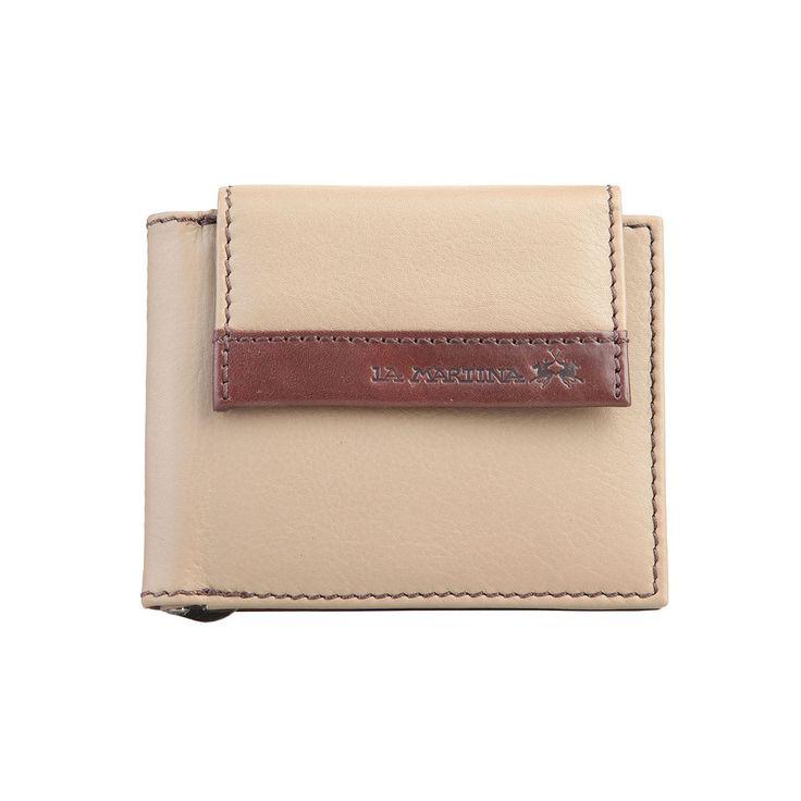 La Martina – Portafoglio uomo – 100% pelle con logo – porta carte di credito – mis. 11*9,5*1 cm
