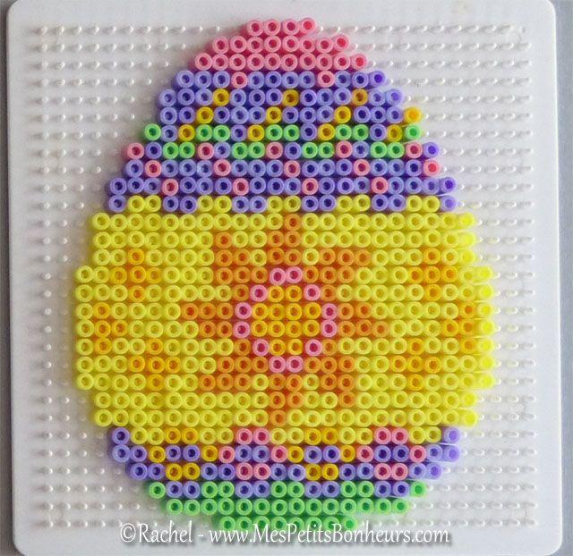 modele oeuf de paques soleil perles hama