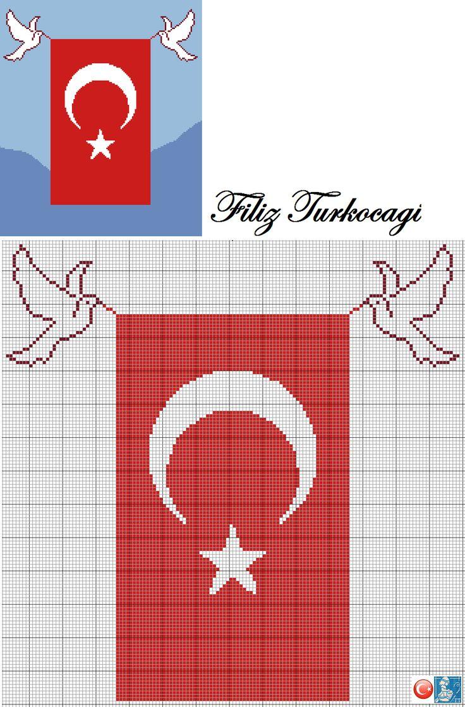 '' Yurtta Barış Dünyada Barış ''    Mustafa Kemal ATATÜRK...       Designed by Filiz Türkocağı...