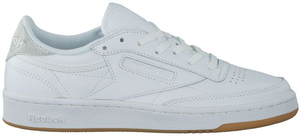 Witte Reebok Sneakers CLUB C 85 DAMES