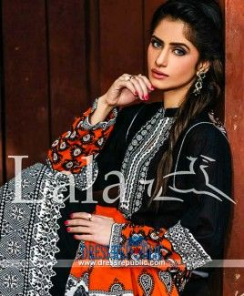 Sana Samia Designer Embroidered Lawn Collection 2015 By Lala Textile