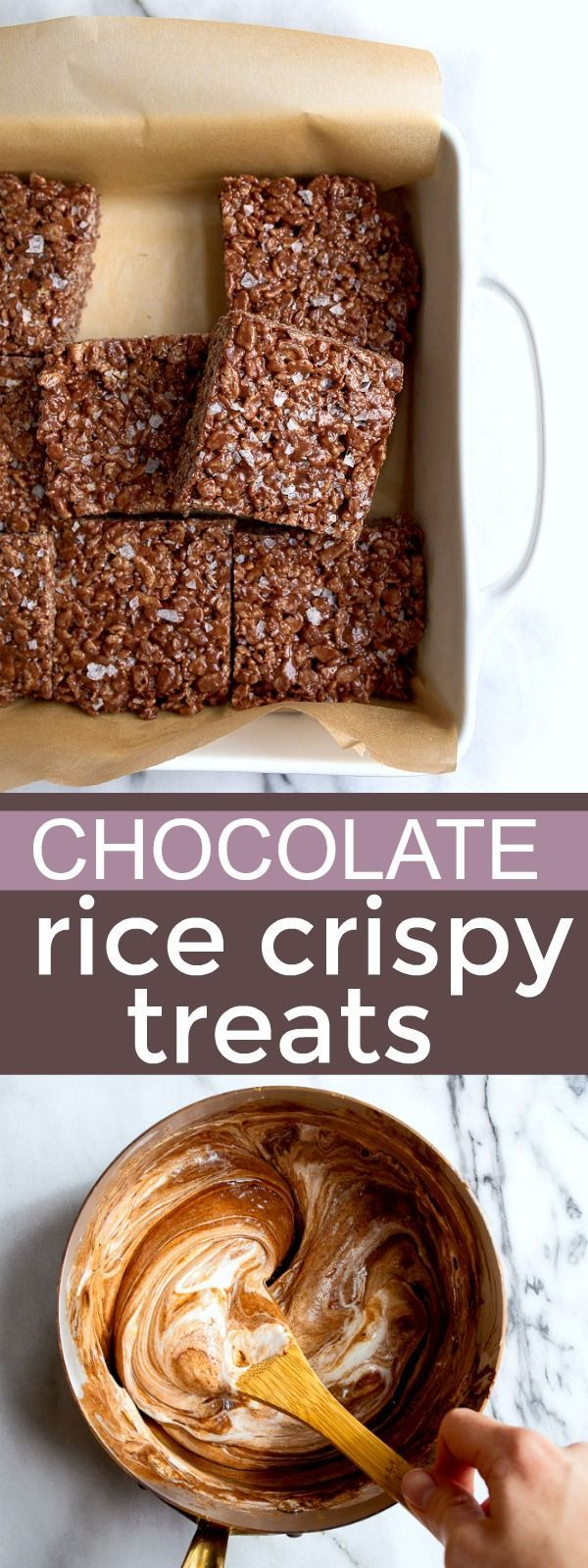 Double chocolate rice krispy treats! Small batch rice crispies treats. Tastes like a copycat Little Debbie Star Crunch