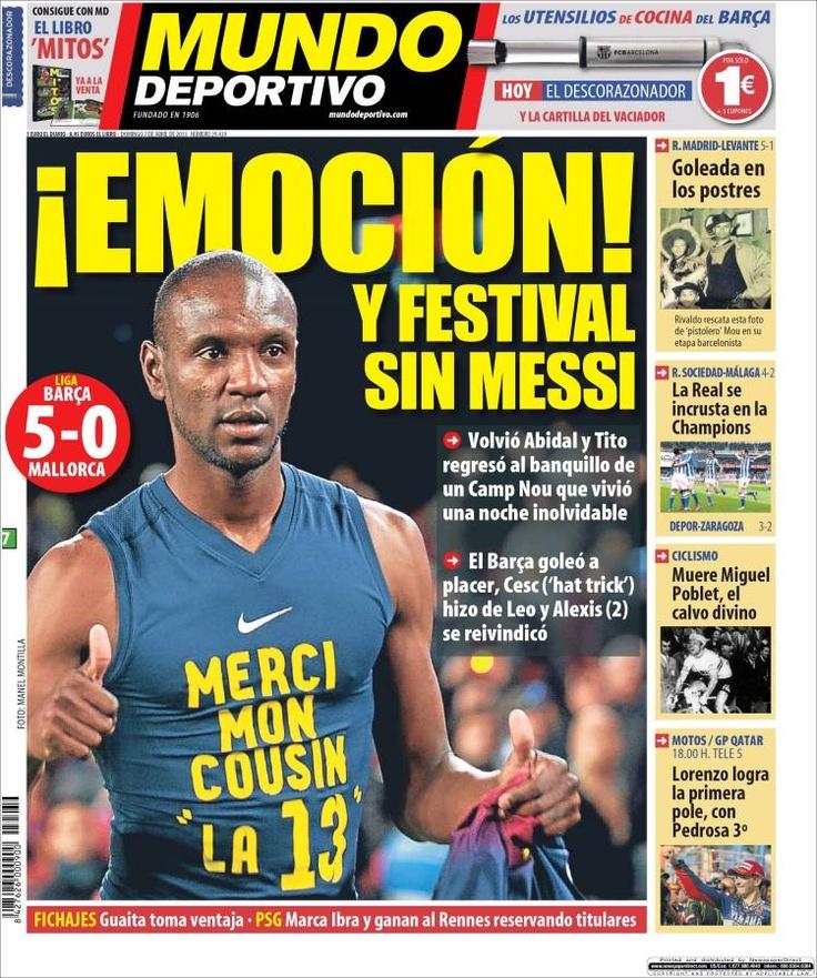 Los Titulares y Portadas de Noticias Destacadas Españolas del 7 de Abril de 2013 del Diario Mundo Deportivo ¿Que le parecio esta Portada de este Diario Español?
