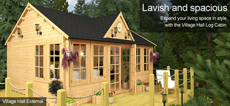 Log Cabins, Log Cabins for Sale, Garden Offices, Log Cabin Sheds, Summer Houses, Log Cabin   Garden Buildings Direct
